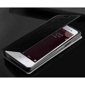 Moof PU kožené puzdro pre mobil Lenovo S90 - čierné - 2