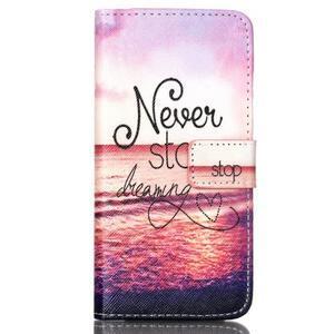 Style peňaženkové puzdro pre mobil Lenovo S90 - neprestávaj sniet - 2