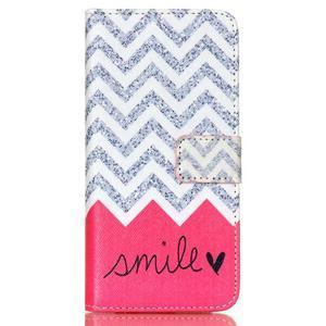 Style peňaženkové puzdro pre mobil Lenovo S90 - smile - 2