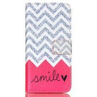 Style peňaženkové puzdro pre mobil Lenovo S90 - smile - 2/7