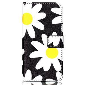 Style peňaženkové puzdro pre mobil Lenovo S90 - sedmikrásky - 2