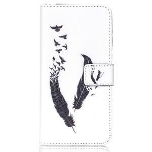 Style peňaženkové puzdro pre mobil Lenovo S90 - vtačie pierka - 2