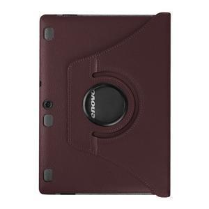 Puzdro s otočnou funkcí na tablet Lenovo Tab 2 A10-70 - tmavěhnědé - 2