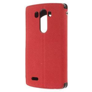 Diary pouzdro s okýnkem na mobil LG G3 - červené - 2