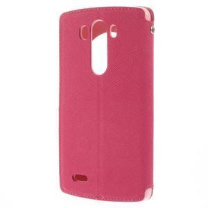 Diary puzdro s okienkom na mobil LG G3 - rose - 2