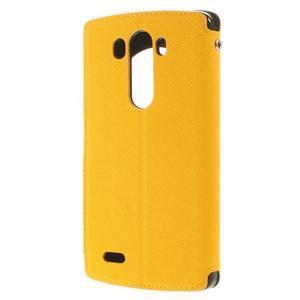 Diary pouzdro s okýnkem na mobil LG G3 - žluté - 2