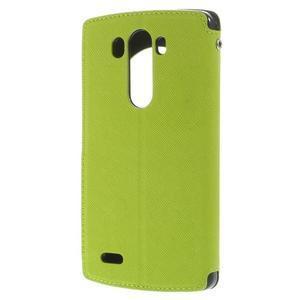 Diary pouzdro s okýnkem na mobil LG G3 - zelené - 2