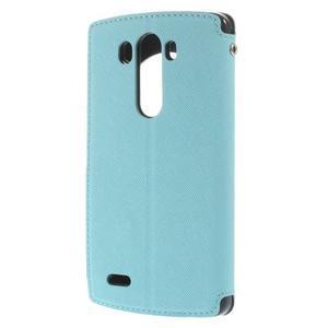 Diary puzdro s okienkom na mobil LG G3 - svetlomodré - 2