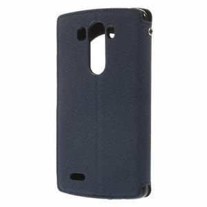 Diary puzdro s okienkom na mobil LG G3 - tmavomodré - 2