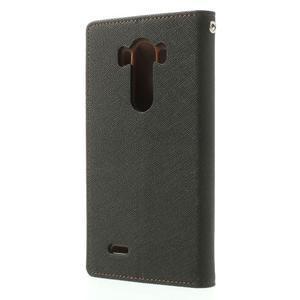 Goos peňaženkové puzdro pre LG G3 - čierne/hnedé - 2