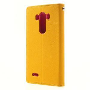 Goos peňaženkové puzdro pre LG G3 - žlté - 2