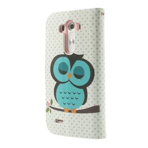 Ultra motive peňaženkové puzdro pre LG G3 - sovička - 2