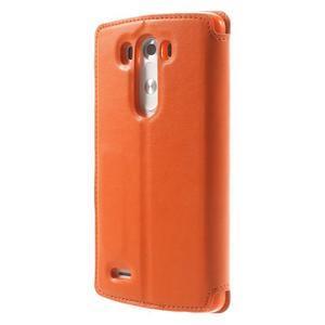 Roar peňaženkové puzdro s okienkom na LG G3 - oranžové - 2