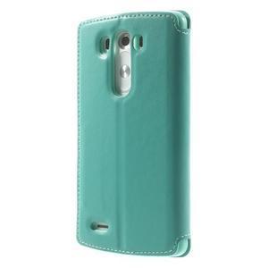 Roar peněženkové pouzdro s okýnkem na LG G3 - cyan - 2