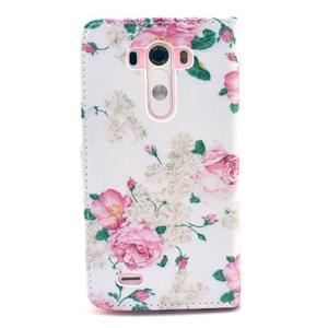 Obrázkové puzdro pre mobil LG G3 - kvetiny - 2