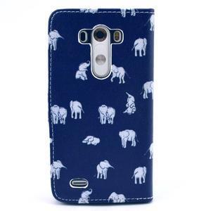 Obrázkové puzdro pre mobil LG G3 - sloníci - 2