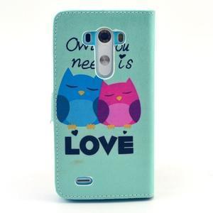 Obrázkové puzdro pre mobil LG G3 - soví láska - 2