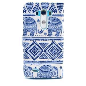 Obrázkové puzdro pre mobil LG G3 - modří sloni - 2