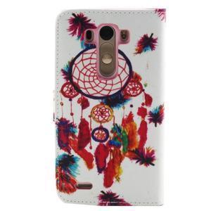 Obrázkové koženkové puzdro pre mobil LG G3 - lapač snov - 2