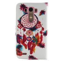 Obrázkové koženkové puzdro pre mobil LG G3 - lapač snov - 2/5