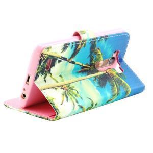 Obrázkové koženkové puzdro pre mobil LG G3 - palmy - 2