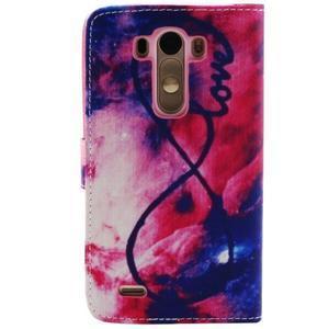 Obrázkové koženkové puzdro pre mobil LG G3 - nekonečná láska - 2