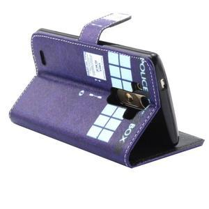 Obrázkové koženkové puzdro pre mobil LG G3 - policie - 2