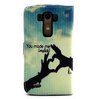 Obrázkové koženkové pouzdro na mobil LG G3 - láska - 2/5