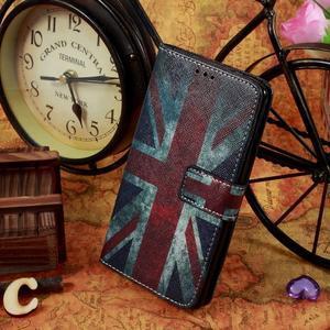 Motive koženkové pouzdro na LG G3 - UK vlajka - 2