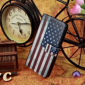 Motive koženkové pouzdro na LG G3 - US vlajka - 2