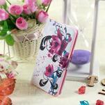 Motive koženkové puzdro pre LG G3 - fialový kvet - 2/6