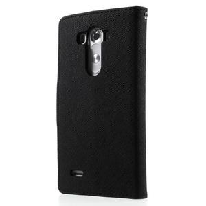 Cross PU kožené puzdro pre LG G3 - čierne - 2