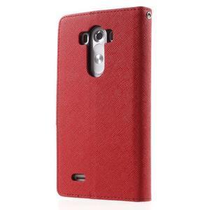 Cross PU kožené pouzdro na LG G3 - červené - 2