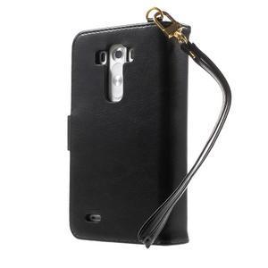 Patrové peněženkové pouzdro na mobil LG G3 - černé - 2