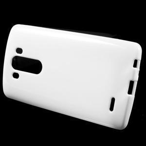 Lesklý gelový obal na LG G3 - bílý - 2