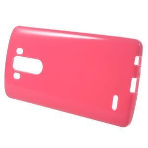 Lesklý gélový obal pre LG G3 - červený - 2
