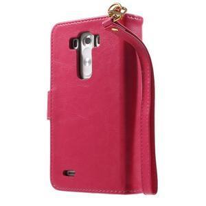 Patrové peňaženkové puzdro pre mobil LG G3 - rose - 2