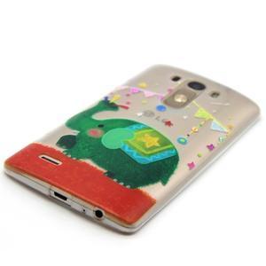 Průhledný gelový obal na LG G3 - slon - 2