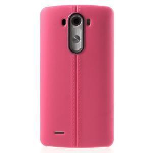 Lines gelový kryt na mobil LG G3 - rose - 2