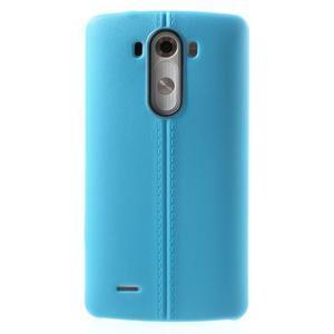 Lines gélový kryt pre mobil LG G3 - modrý - 2