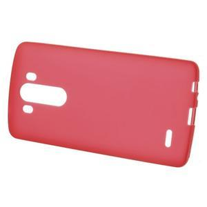 Matný gelový obal na LG G3 - červený - 2