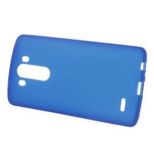 Matný gélový obal pre LG G3 - tmavomodrý - 2