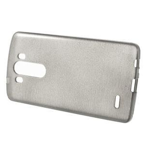 Brush gelový obal na LG G3 - šedý - 2