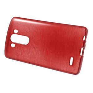Brush gélový obal pre LG G3 - červený - 2