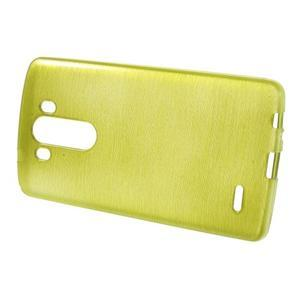 Brush gélový obal pre LG G3 - zelený - 2