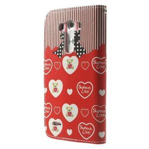 Obrázkové puzdro pre mobil LG G3 - zamilovaný medvedík - 2