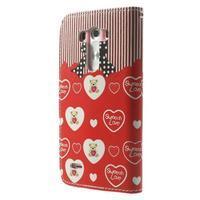 Obrázkové puzdro pre mobil LG G3 - zamilovaný medvedík - 2/7