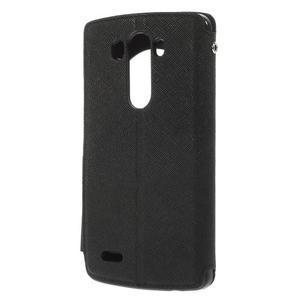 Diary puzdro s okienkom na mobil LG G3 - čierne - 2