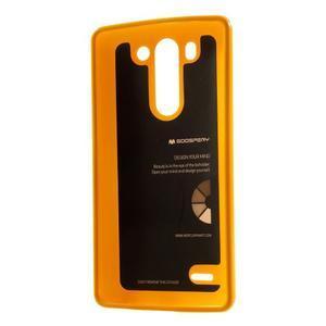 Odolný gélový obal na LG G3 s - oranžový - 2