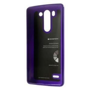 Odolný gélový obal na LG G3 s - fialový - 2